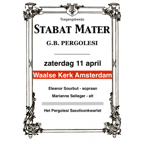 Entreebewijs Stabat Mater Amsterdam