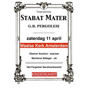 Entreebewijs Stabat Mater Amsterdam kinderkaart